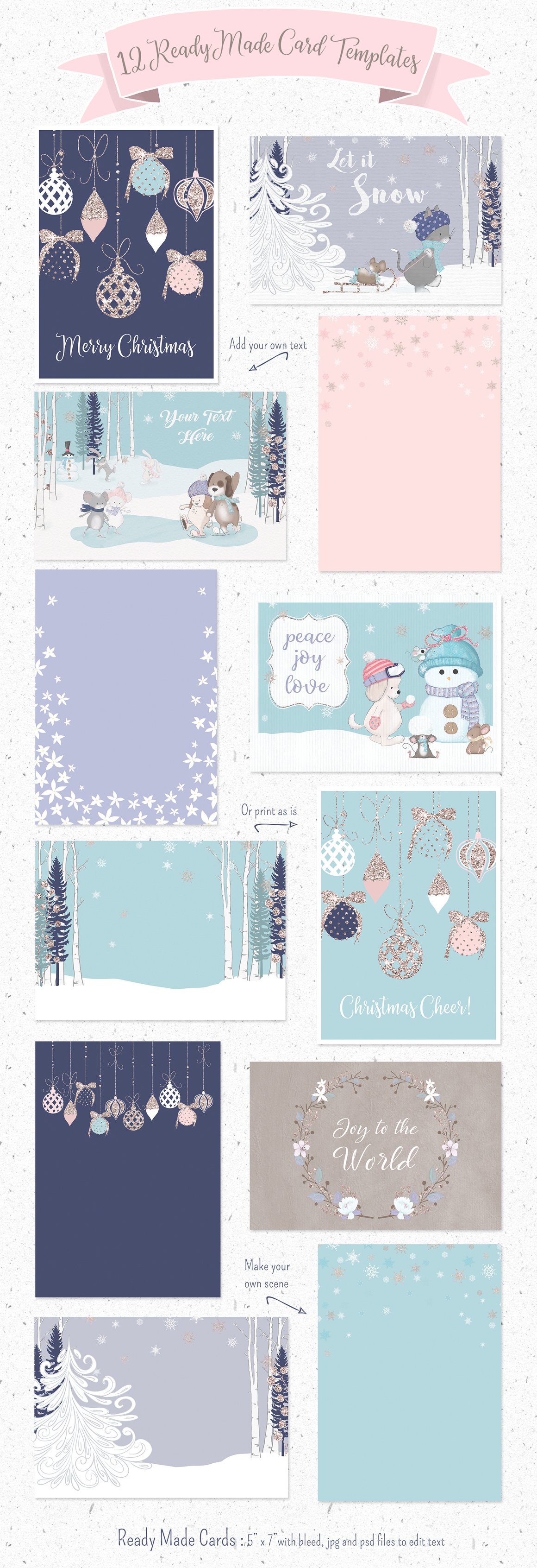 BUNDLE PACK OF 24 CHRISTMAS CARDS BEST QUALITY 50p PER CARD MIXED