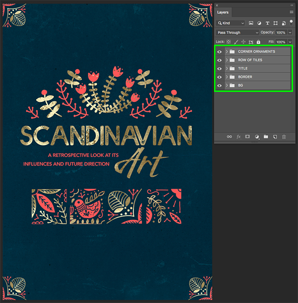 Scandinavian Art Poster Design