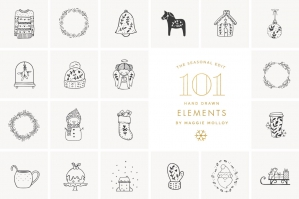 101-Hand-Drawn-Festive-Elements-cover