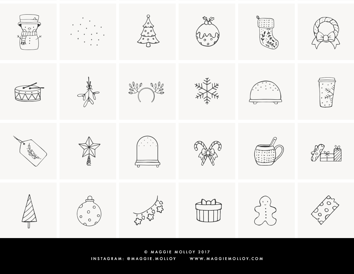 101 Hand Drawn Festive Elements