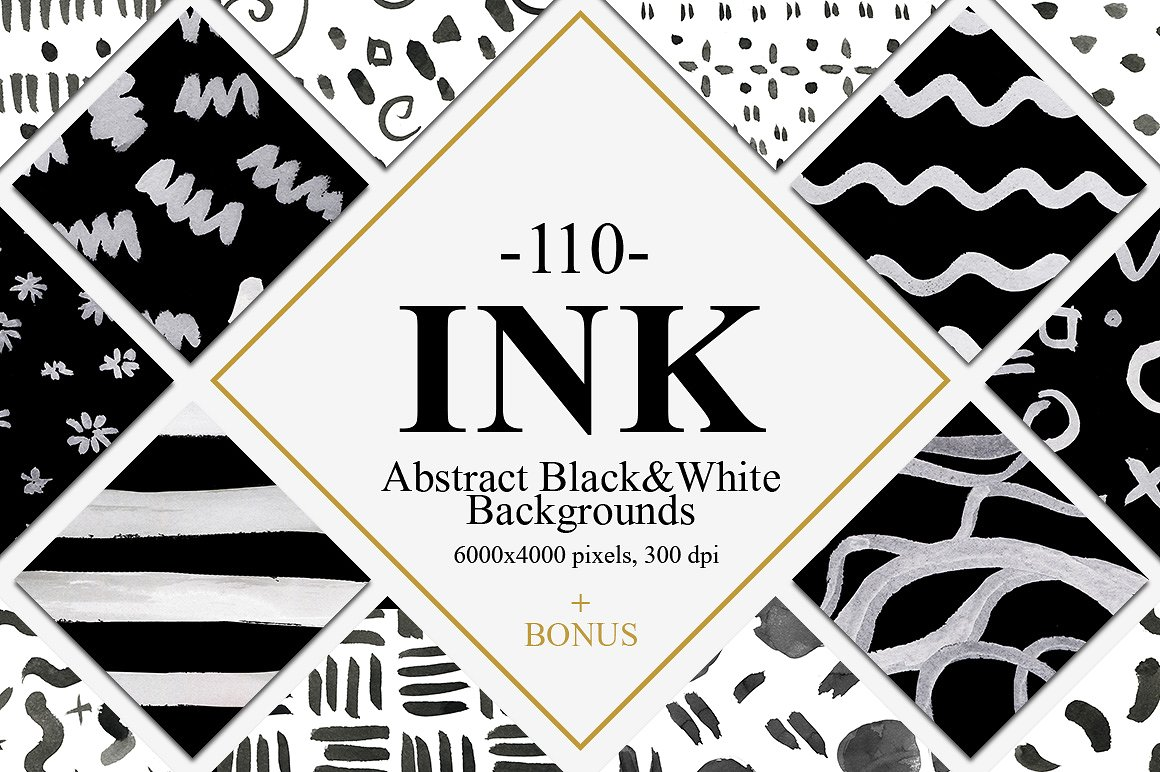 110 Abstract Ink Backgrounds