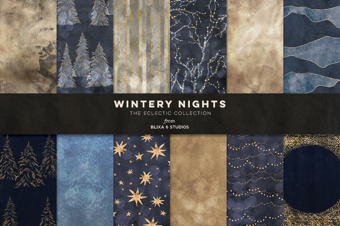 36 Winter Fairy Lights Gold Graphics