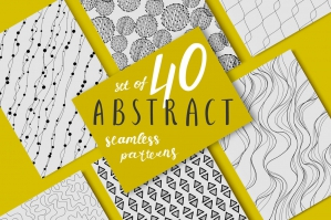 40 Abstract Black And White Seamless Patterns