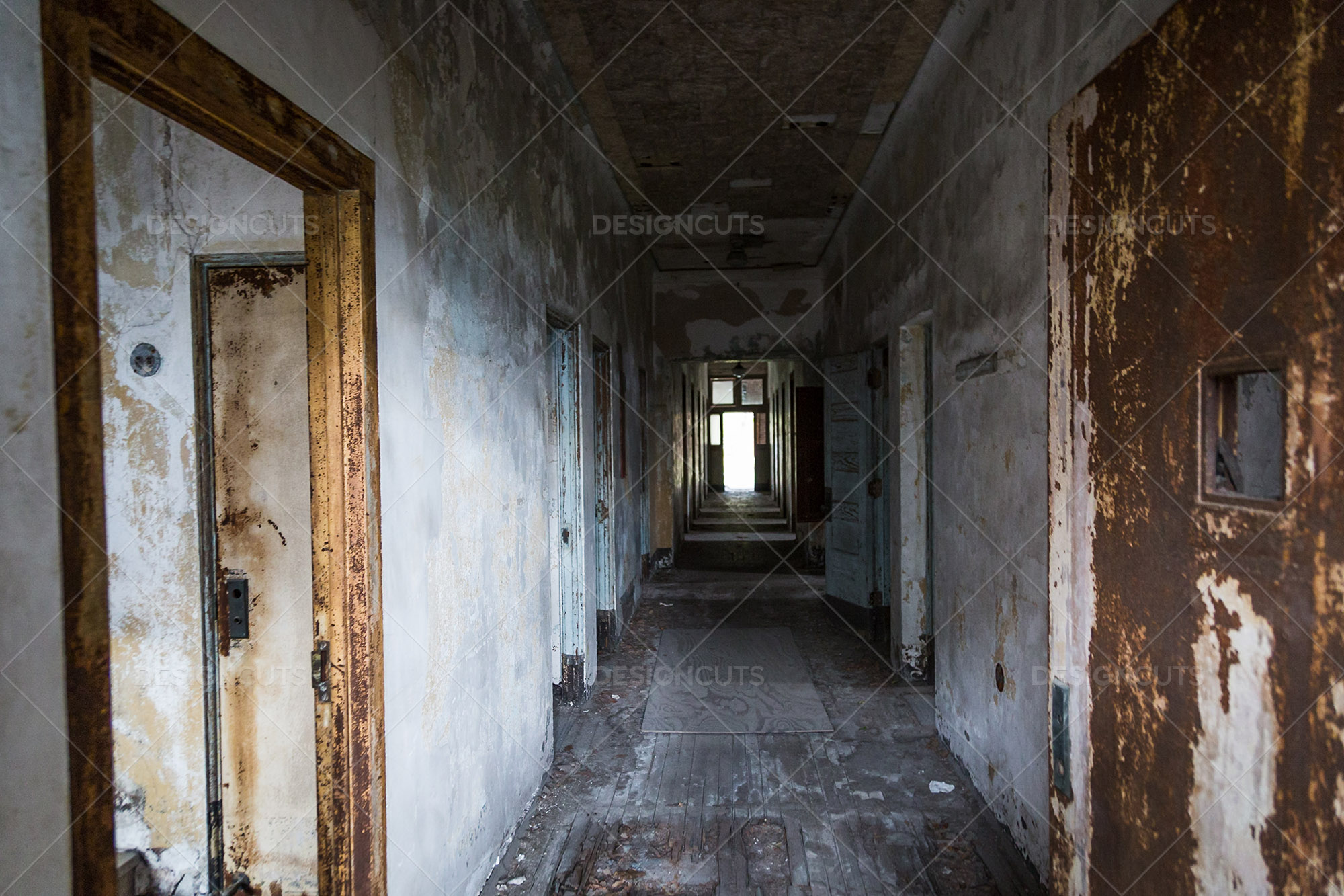 A Deserted Hallway In Ellis Island Immigration Hospital 2