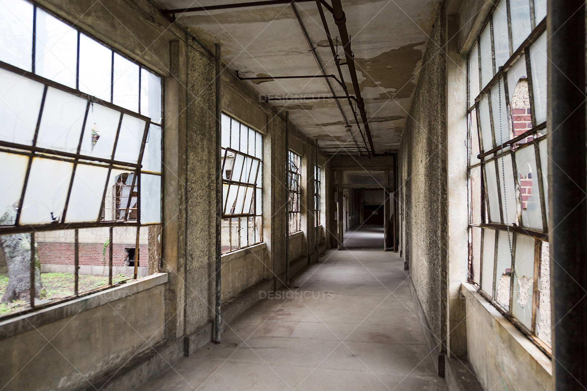 A Deserted Hallway In Ellis Island Immigration Hospital 4