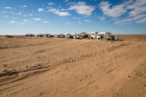 A Line Of Abandoned Cars In The Sahara Desert No. 5