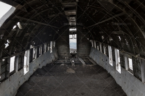 A View From Inside The Remains Of A Crashed DC 3 Plane No. 1