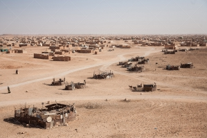 A View Over Layounne Refugee Camp In Algeria