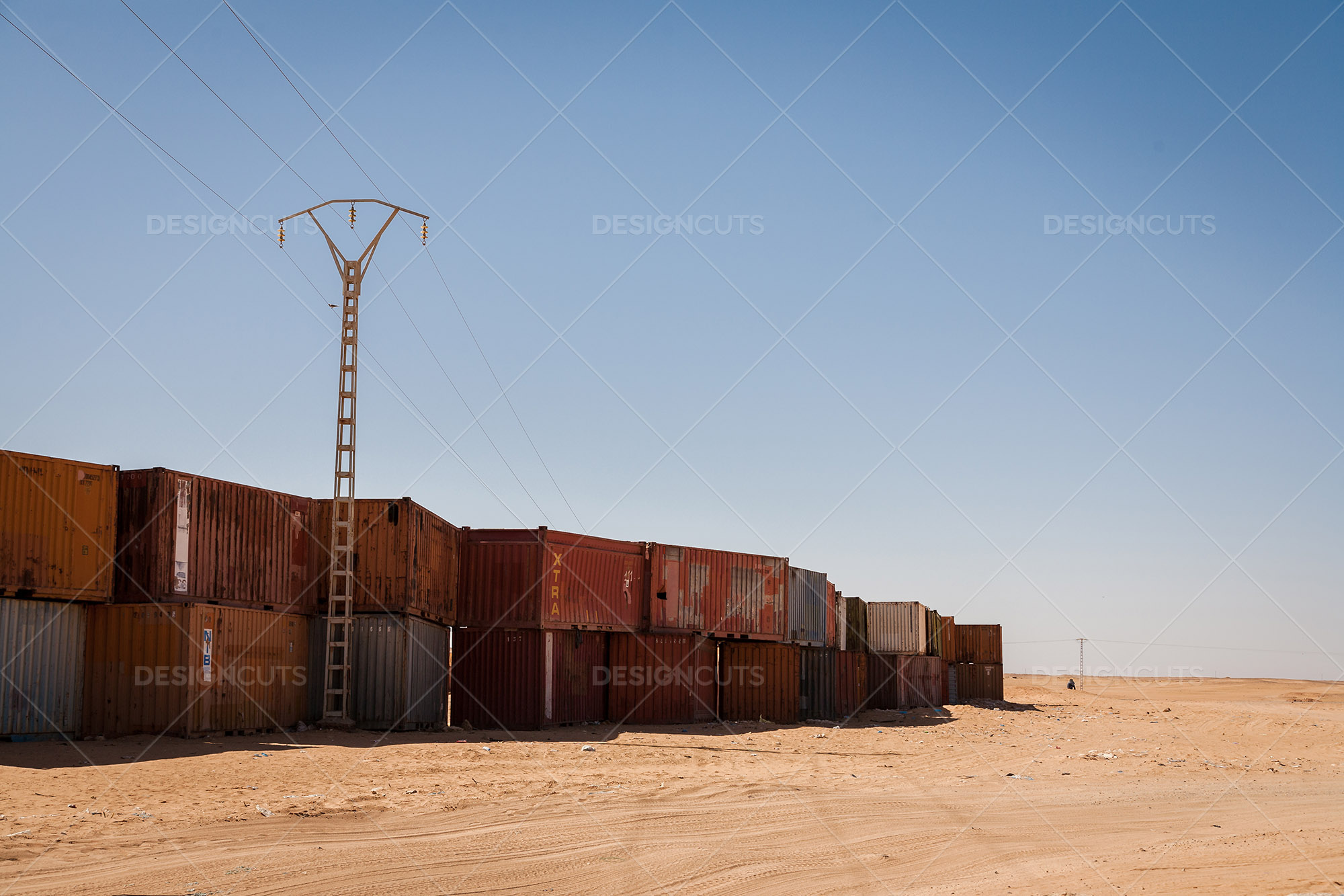 A Wall Of Shipping Containers In The Sahara Desert Design Cuts