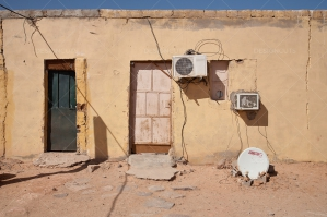 Air Conditioning Units On The Wall Of A House In Algeria