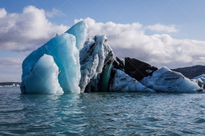 An Iceberg Floating In Jokulsarlon Glacier Lagoon 3