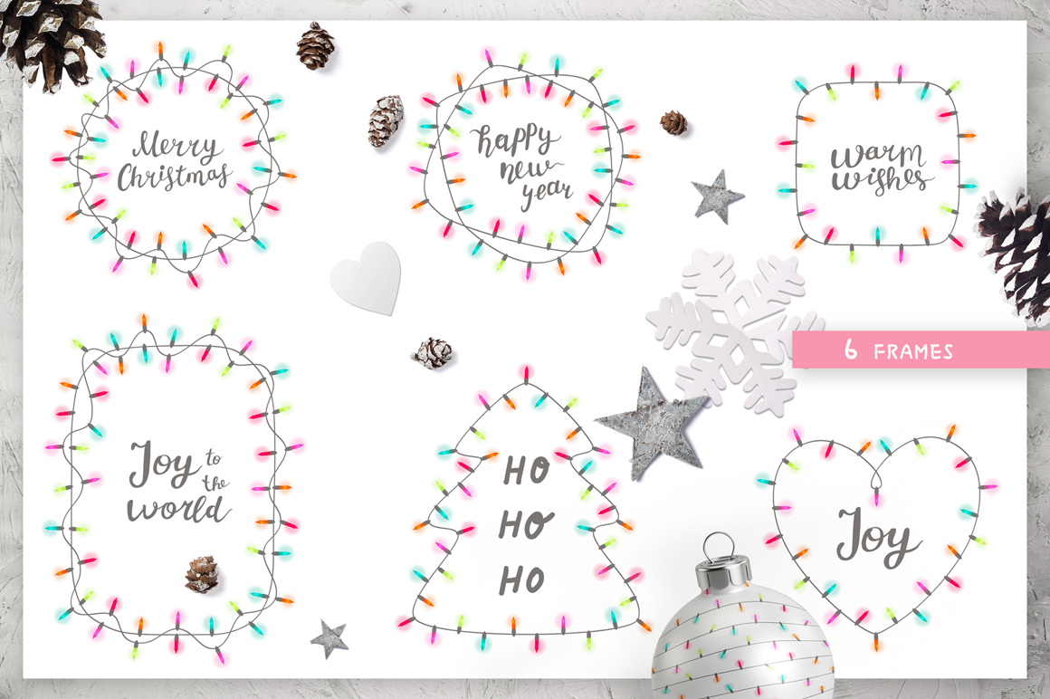 Christmas Lights, Patterns And Cards