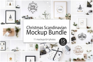 Christmas Scandinavian Mockup Collection