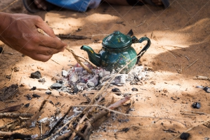 Close Up Of Hands Making Traditional Sahrawi Tea No. 1