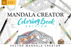 Coloring-Book-Mandala-Illustration-Creator-cover
