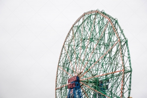 Colourful Ferris Wheel In Coney Island's Luna Park No. 8