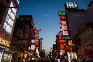 Colourful Signs Lighting Up The Streets Of New Delhi