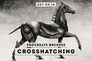Crosshatching-Procreate-Brushes-cover