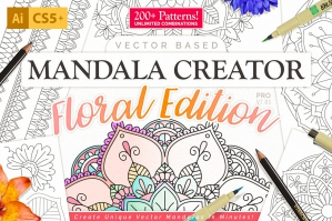 Floral-Mandala-Vector-Pattern-Creator-For-Illustrator-cover
