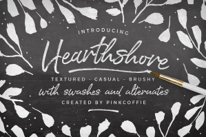 Hearthshore-Brush-Script-Font-Plus-Logo-Templates-cover