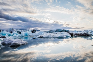 Icebergs Floating At The Mouth Of Jökulsárlón Glacier Lagoon No. 7