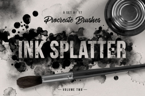 Ink-Splatter-Vol2-Procreate-Brushes-cover