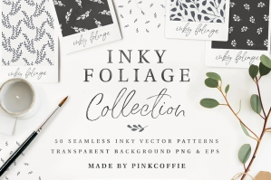 Inky-Foliage-30-Seamless-Patterns-And-30-Motifs-cover