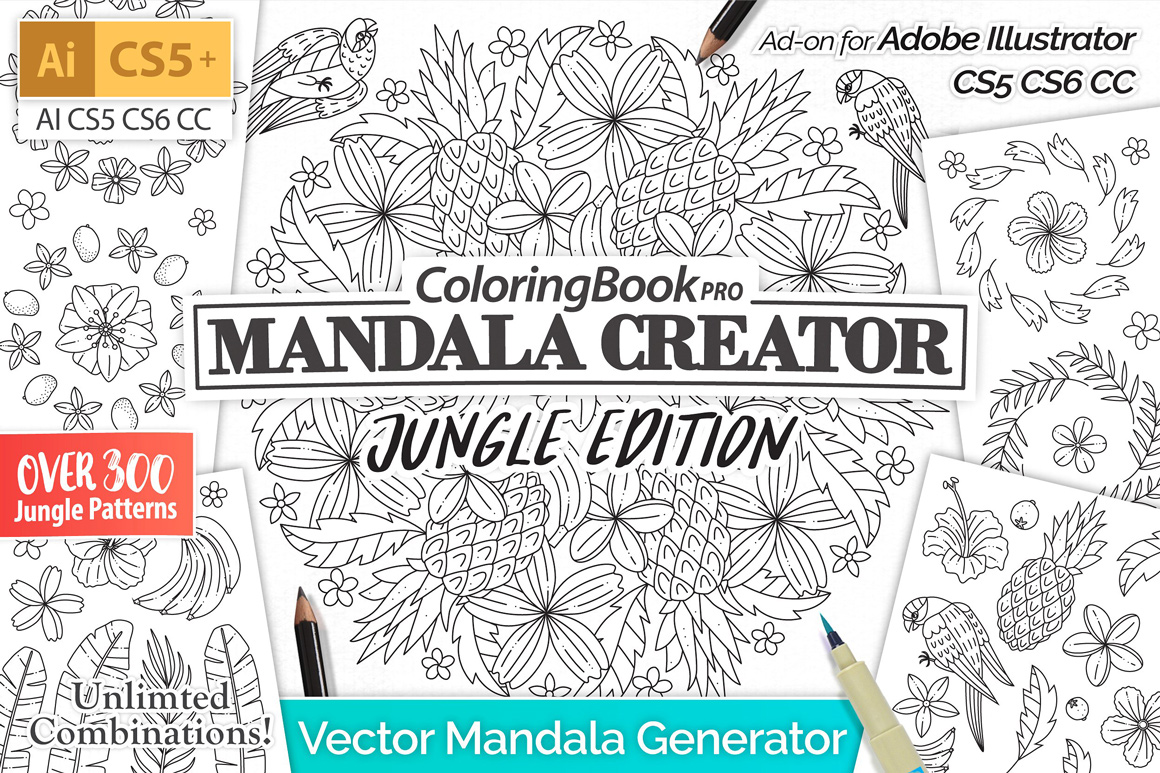 Mandala Creator Jungle Edition - Design Cuts