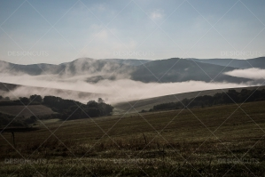 Mist Clearing In The Valleys Around Hollókő In Hungary No. 1