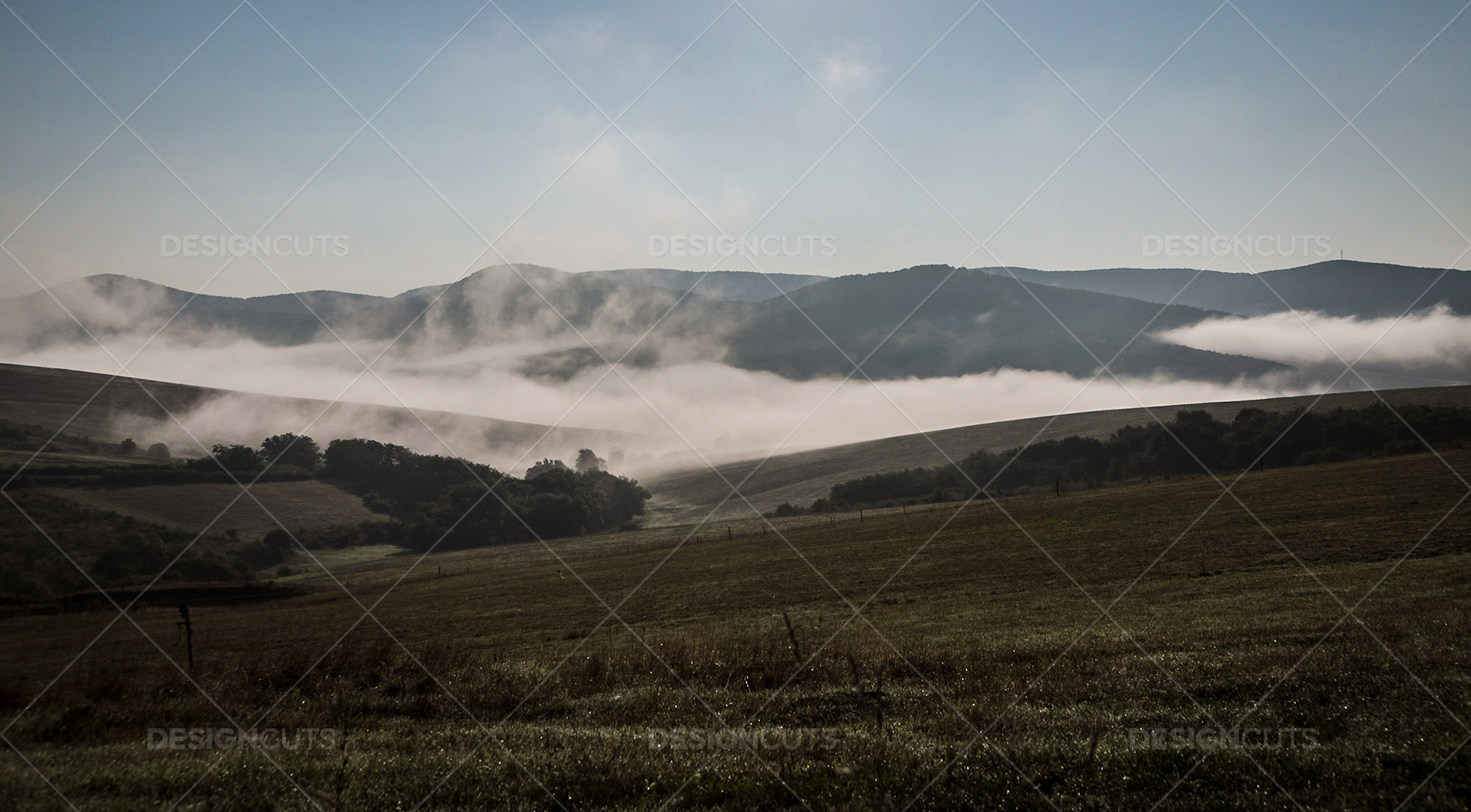 Mist Clearing In The Valleys Around Holloko In Hungary 1