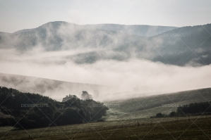 Mist Clearing In The Valleys Around Holloko In Hungary 2