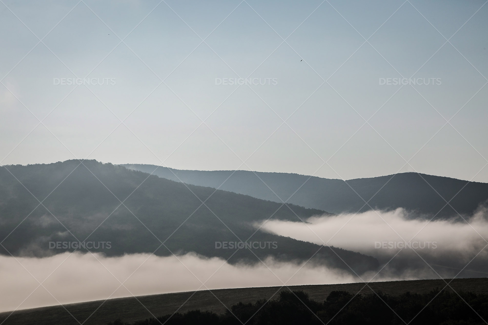 Mist Clearing In The Valleys Around Holloko In Hungary 3