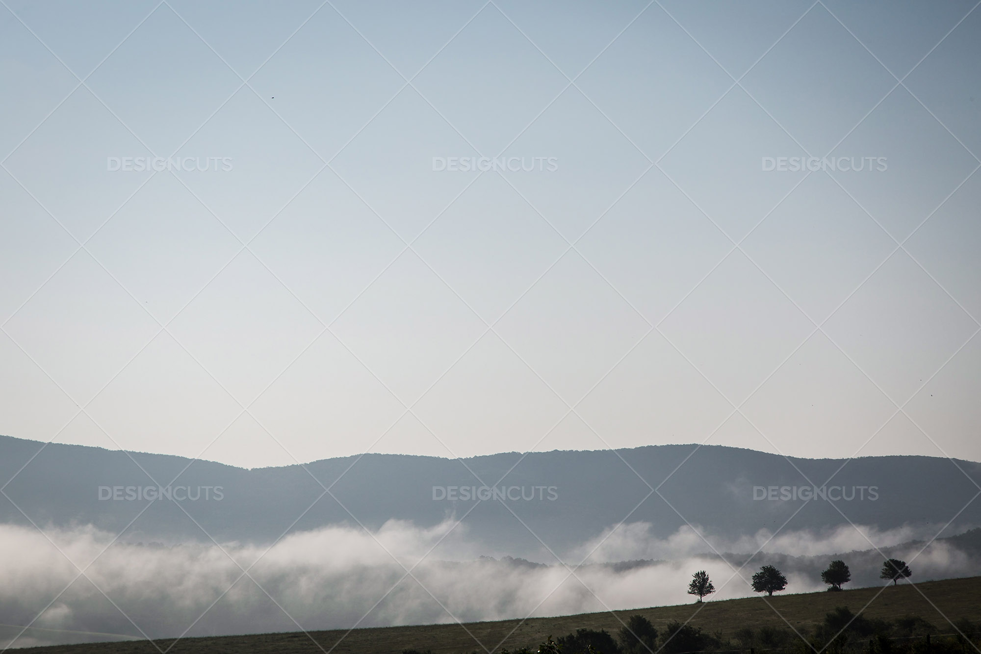 Mist Clearing In The Valleys Around Holloko In Hungary 4