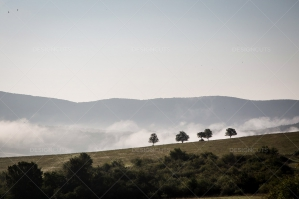 Mist Clearing Above The Hills Around Hollókő In Hungary No. 1