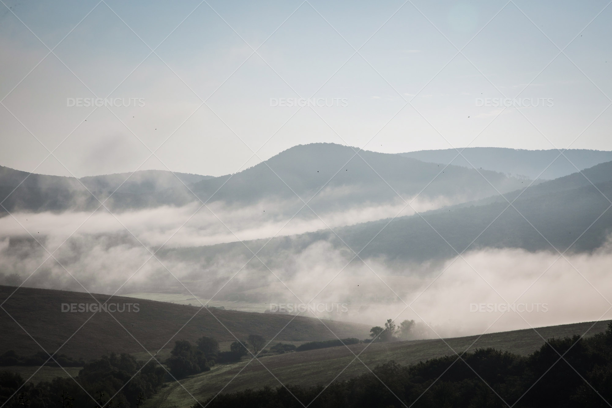 Mist Clearing In The Valleys Around Holloko In Hungary 6