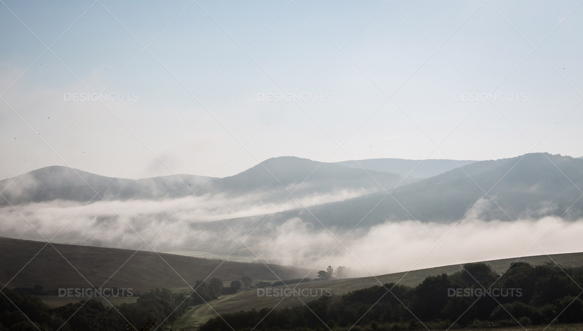 Mist Clearing In The Valleys Around Holloko In Hungary 7