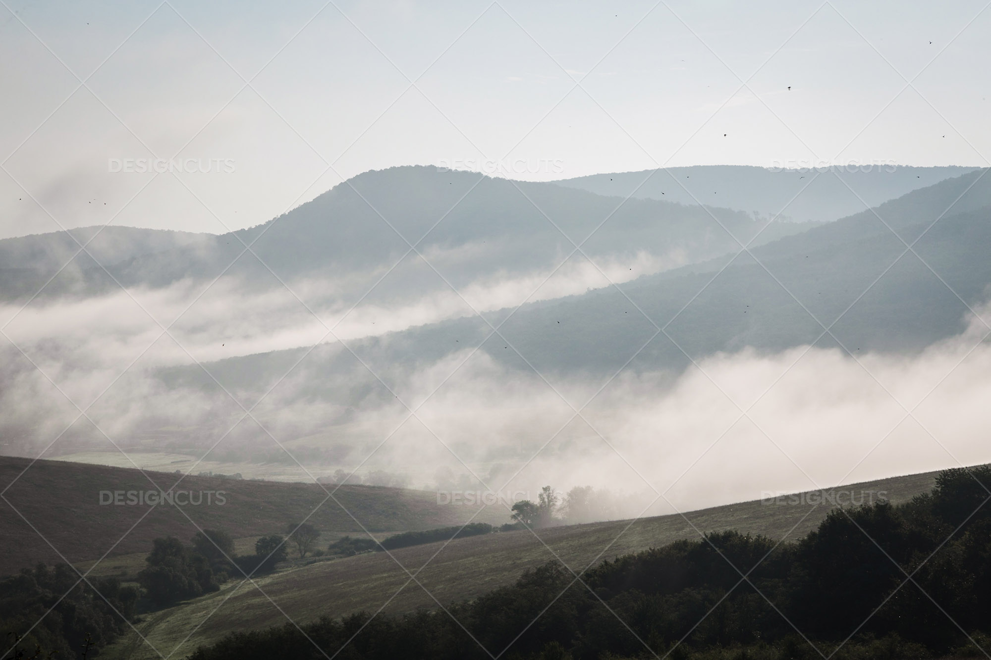 Mist Clearing In The Valleys Around Holloko In Hungary 8