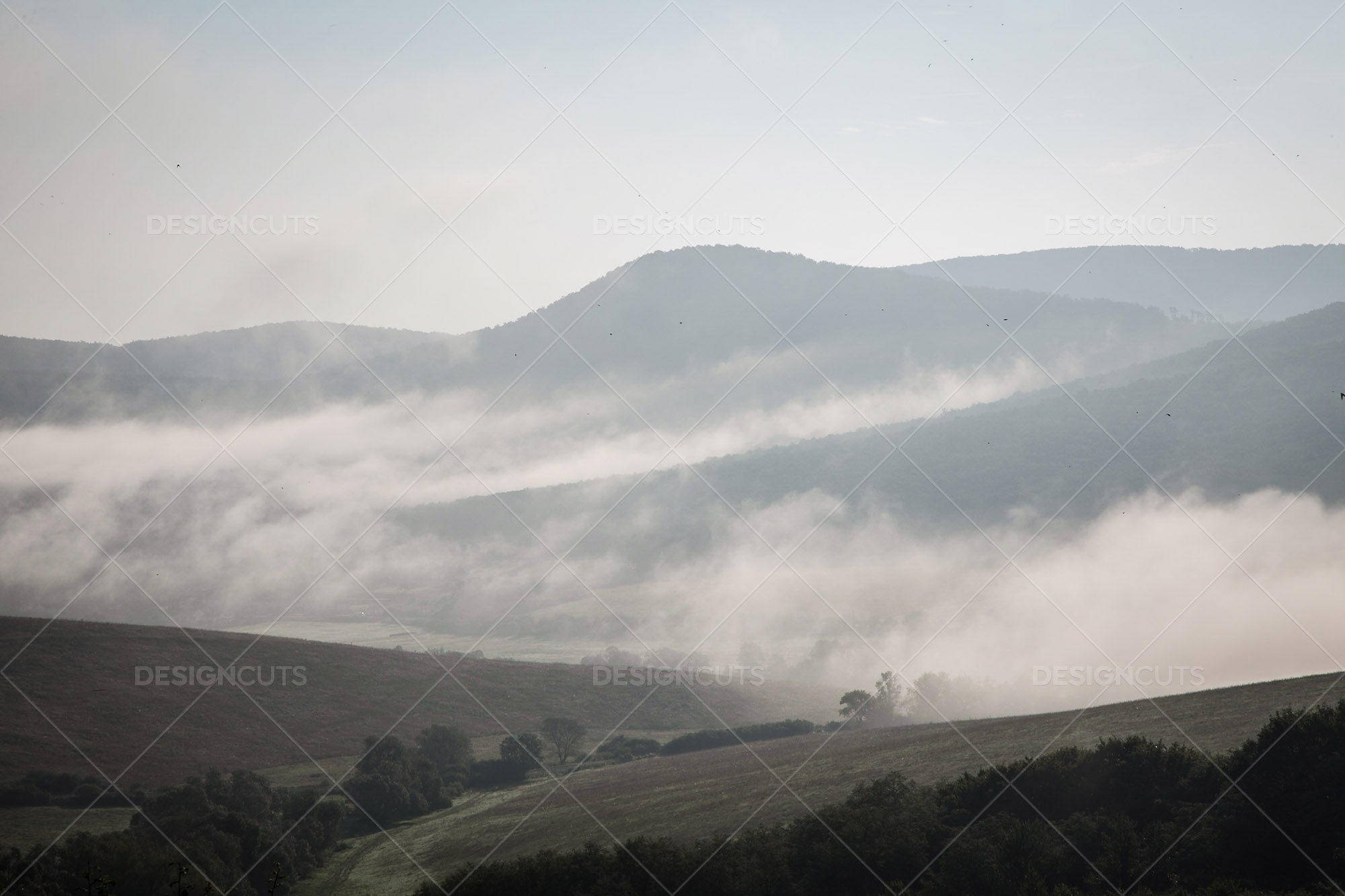 Mist Clearing In The Valleys Around Holloko In Hungary 9