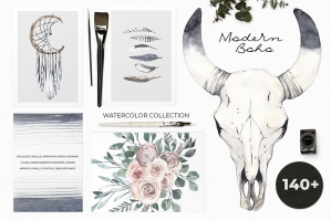 Modern-Boho-Pale-Watercolor-Set-cover