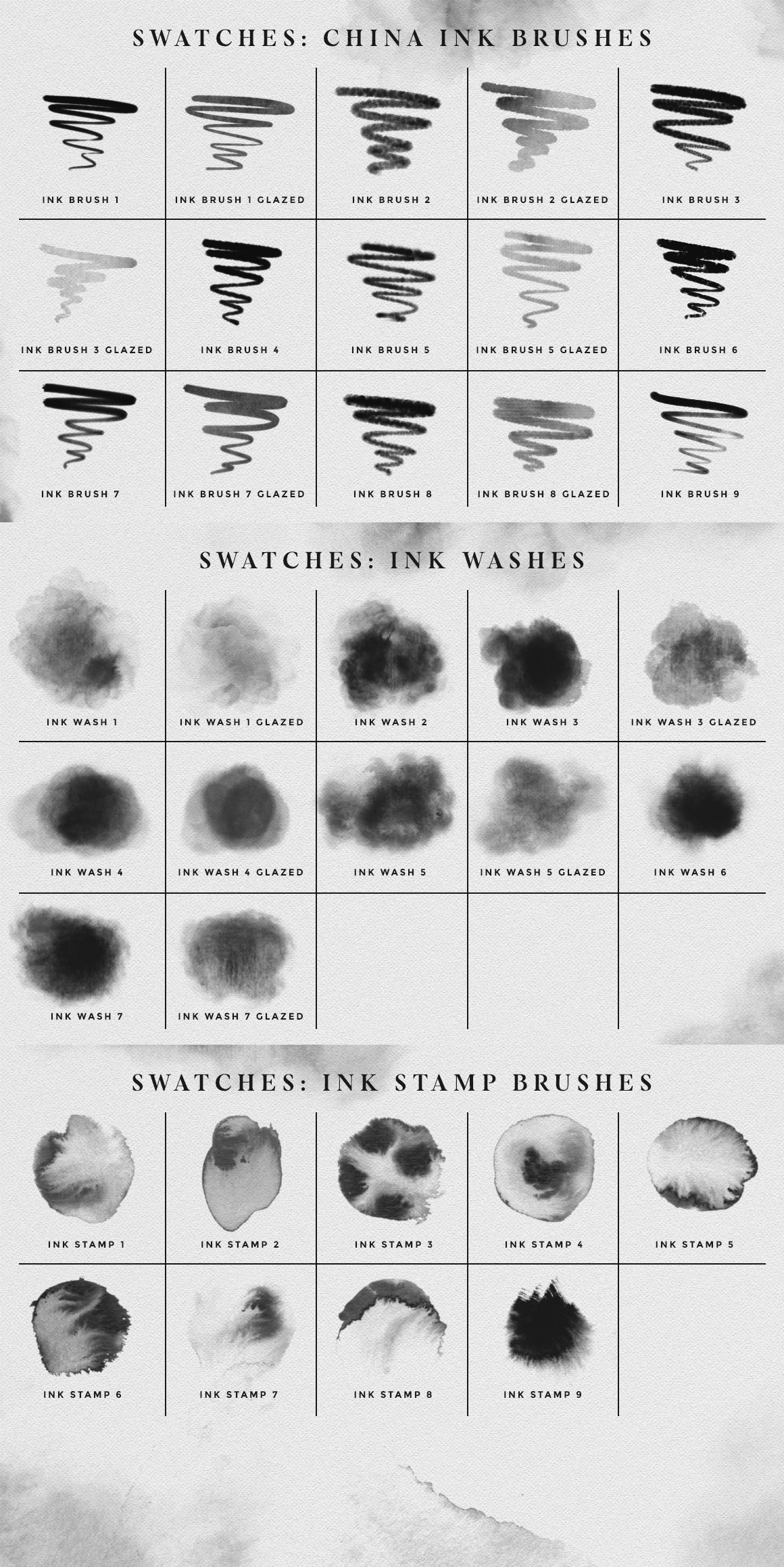 Photoshop Ink Brushes
