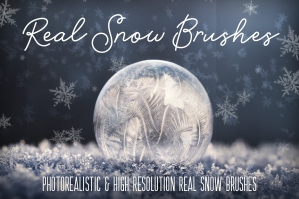 Real Snow Brushes For Photoshop