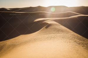 Sand Dunes In The Sahara Desert At Dusk No. 1