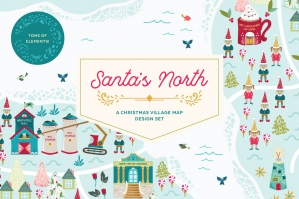 Santas-North-Christmas-Village-Map-Design-Set-cover