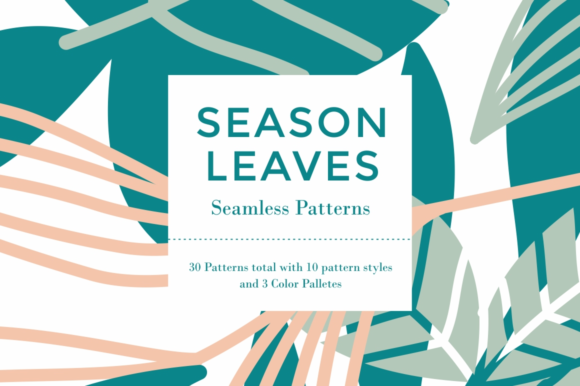 Season Leaves Seamless Pattern
