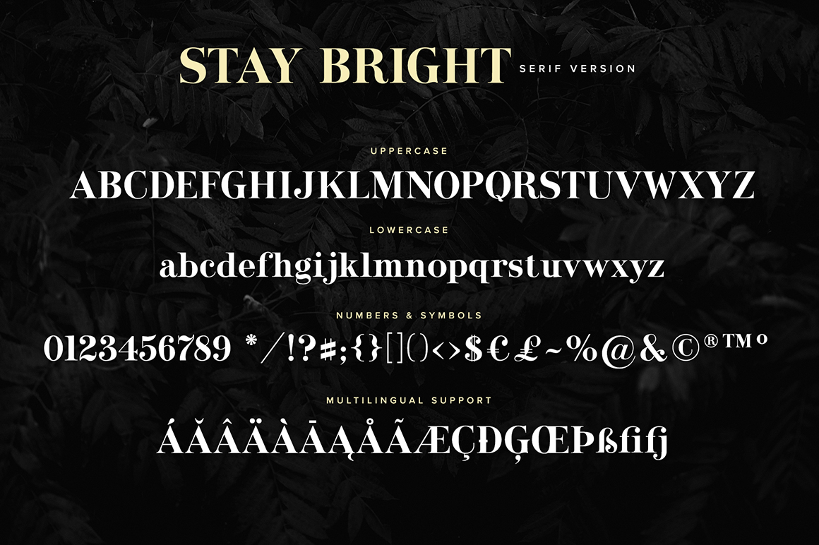 Stay Bright Font Duo