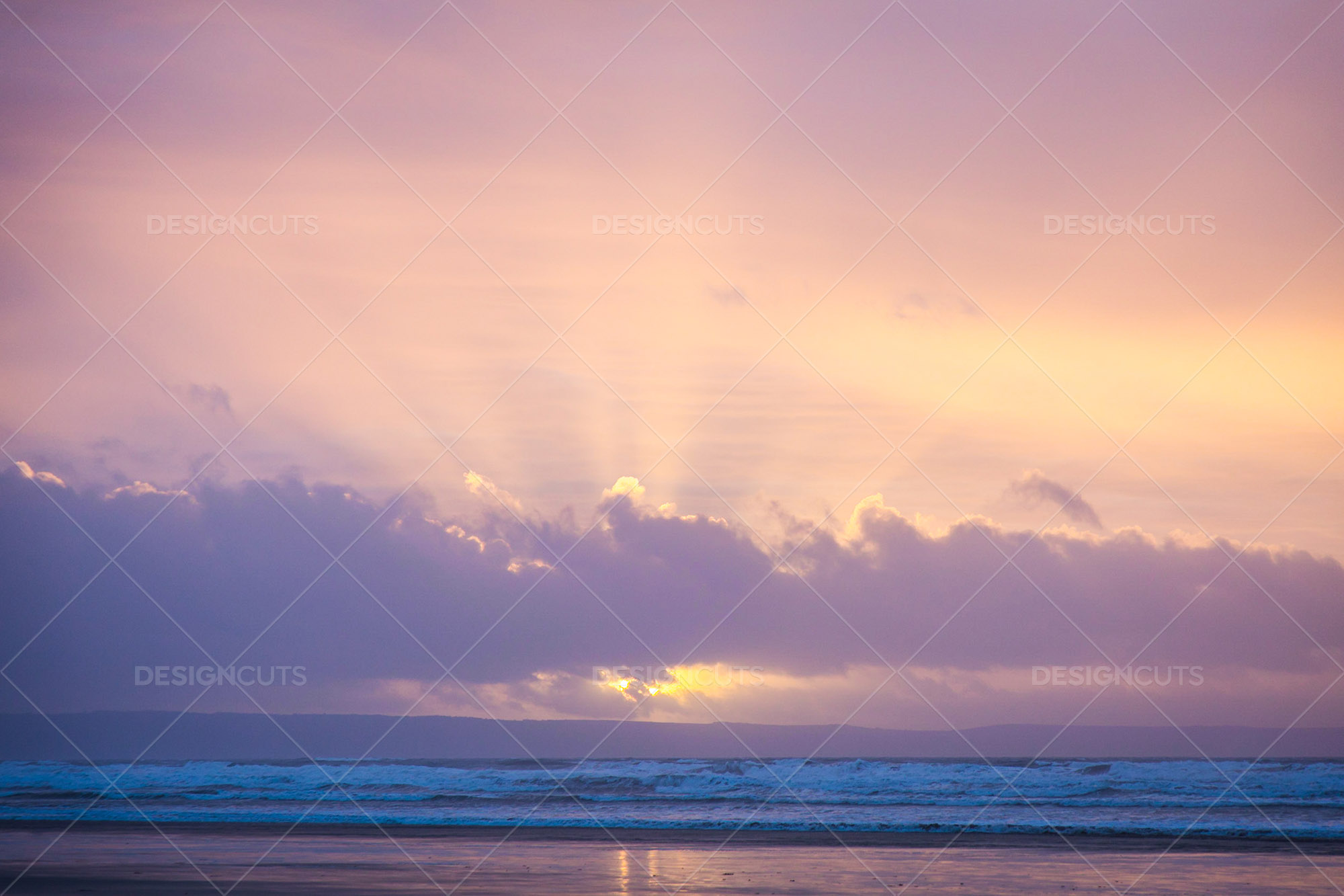 Sunset Over The Beach At Saunton Sands, Devon 4