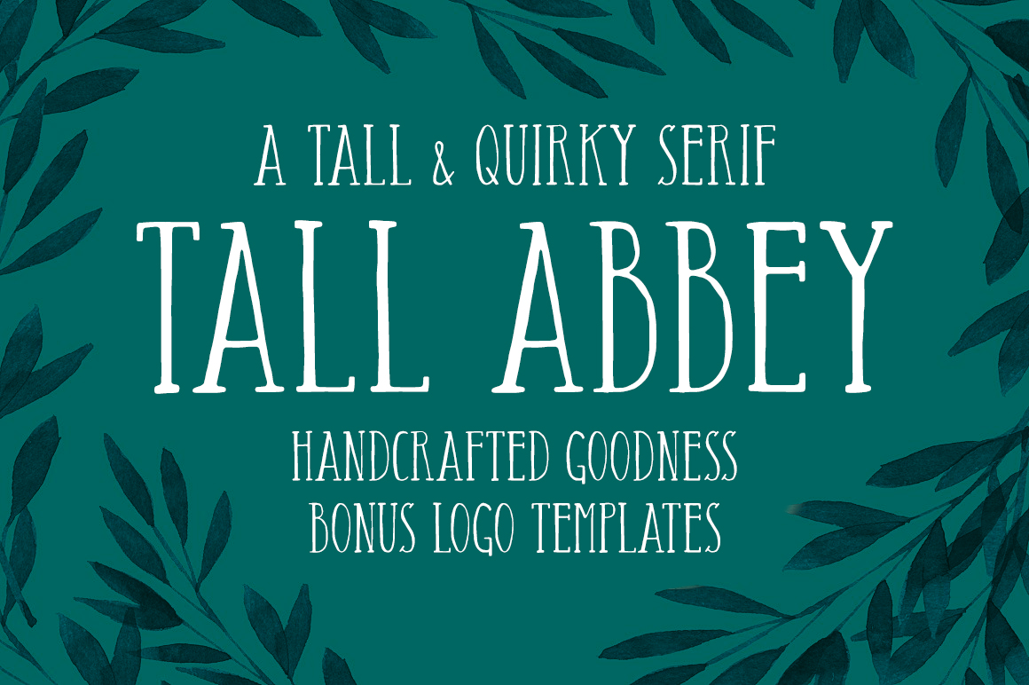 Tall Abbey Serif + 5 Logo Templates
