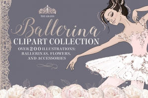 The-Grand-Ballerina-Clipart-Collection-cover