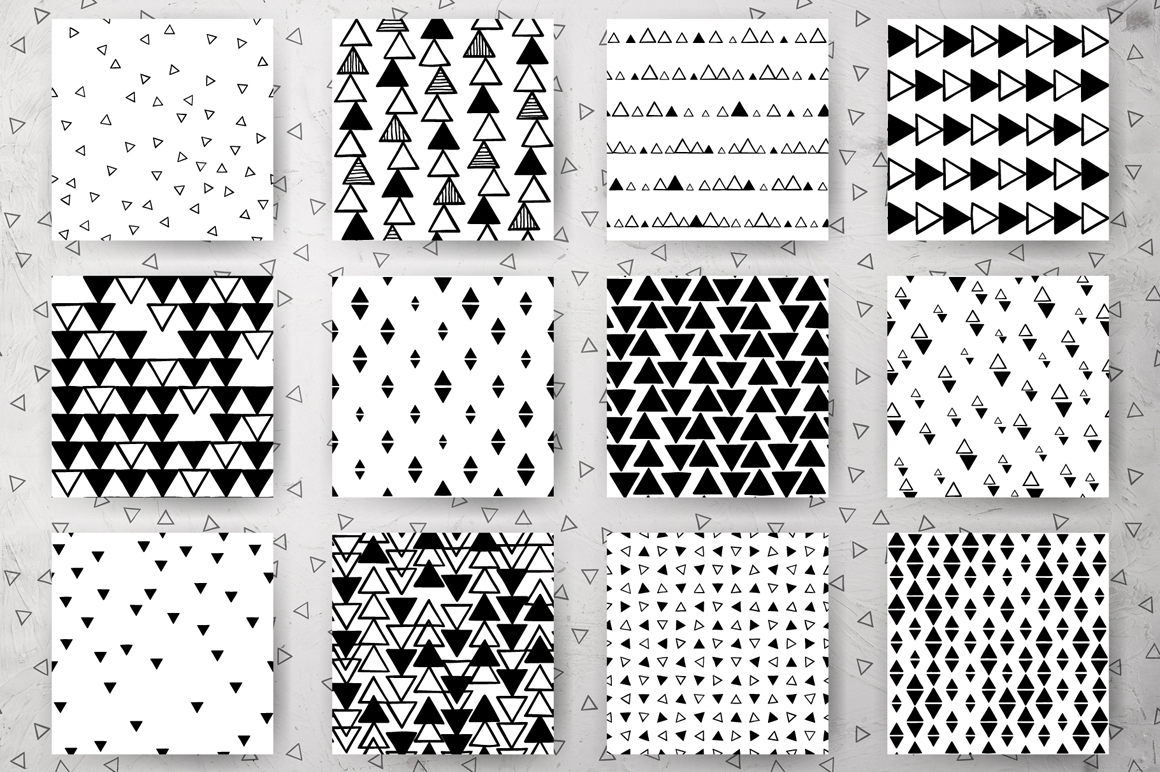 Triangles - 24 Abstract Patterns