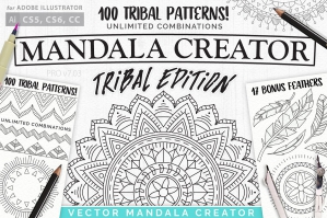 Tribal-Mandala-Dream-Catcher-Illustration-Creator-cover